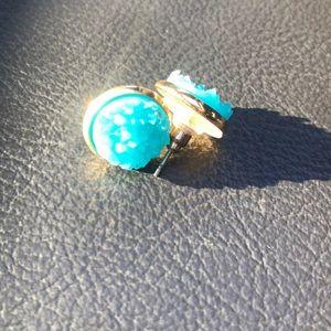 Plunder Druzy Turquoise stud earrings
